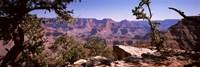 Mountain range, South Rim, Grand Canyon National Park, Arizona Fine Art Print