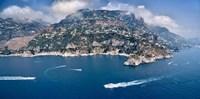 Town at the waterfront, Amalfi Coast, Salerno, Campania, Italy Fine Art Print