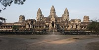Facade of a temple, Angkor Wat, Angkor, Siem Reap, Cambodia Fine Art Print
