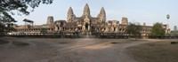 Facade of a temple, Angkor Wat, Angkor, Cambodia Fine Art Print