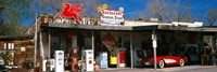 Store with a gas station on the roadside, Route 66, Hackberry, Arizona Fine Art Print
