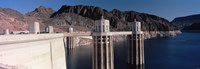 Dam on the river, Hoover Dam, Colorado River, Arizona, USA Fine Art Print