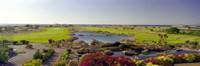 Pond in a golf course, The Cascades Golf & Country Club, Soma Bay, Hurghada, Egypt Fine Art Print