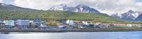 Town at waterfront, Ushuaia, Tierra Del Fuego, Argentina Fine Art Print