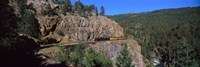 Train moving on a railroad track, Durango And Silverton Narrow Gauge Railroad, Silverton, San Juan County, Colorado, USA Fine Art Print