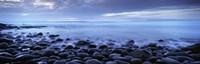 Beach at dusk, Westward Ho, North Devon, Devon, England Fine Art Print