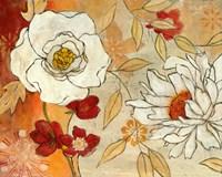 Lush Crimson I Framed Print