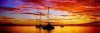 Tahiti Sunset, Society Islands, French Polynesia Fine Art Print