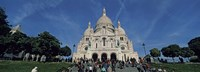 Crowd at a basilica, Basilique Du Sacre Coeur, Montmartre, Paris, Ile-de-France, France Fine Art Print
