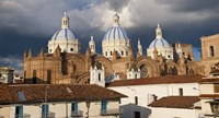 Low angle view of a cathedral, Immaculate Conception Cathedral, Cuenca, Azuay Province, Ecuador Fine Art Print
