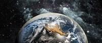 Earth in space Fine Art Print