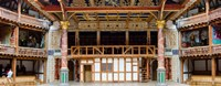 Interiors of a stage theater, Globe Theatre, London, England Framed Print