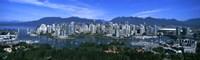 Aerial view of a cityscape, Vancouver, British Columbia, Canada 2011 Fine Art Print
