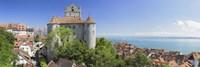 Castle on a hill, Meersburg Castle, Lake Constance, Baden-Wurttemberg, Germany Fine Art Print