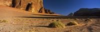 Rock formations in a desert, Wadi Um Ishrin, Wadi Rum, Jordan Fine Art Print