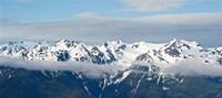 Snow covered mountains, Hurricane Ridge, Olympic National Park, Washington State, USA Framed Print