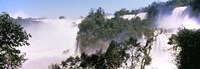Floodwaters at Iguacu Falls, Argentina-Brazil Border Fine Art Print
