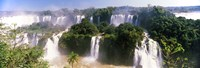 Landscape of floodwaters at Iguacu Falls, Brazil Fine Art Print