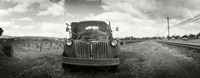 Old truck in a field, Napa Valley, California, USA Fine Art Print