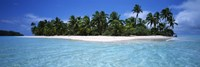 Tapuaetai Motu from the Lagoon, Aitutaki, Cook Islands Fine Art Print