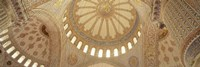 Interiors of a Blue Mosque, Istanbul, Turkey Fine Art Print