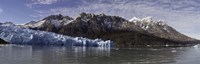 Lago Grey and Grey Glacier with Paine Massif, Torres Del Paine National Park, Magallanes Region, Patagonia, Chile Fine Art Print