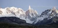Snowcapped mountain range, Mt Fitzroy, Argentine Glaciers National Park, Santa Cruz Province, Patagonia, Argentina Fine Art Print