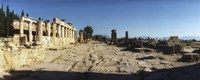 Ruins of the Roman town of Hierapolis at Pamukkale, Anatolia, Central Anatolia Region, Turkey Fine Art Print