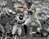 J.J. Watt 2013 Spotlight Action Fine Art Print