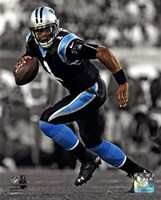 Cam Newton 2013 Spotlight Action Framed Print