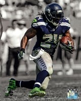 Marshawn Lynch 2013 Spotlight Action Framed Print