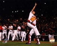 Koji Uehara & David Ross celebrate winning Game 6 of the 2013 World Series Fine Art Print