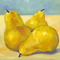 Tres Pears Fine Art Print