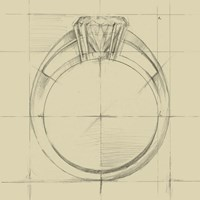 Ring Design I Fine Art Print
