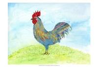 Meadow Rooster Fine Art Print