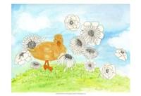 Duck & Flowers Fine Art Print