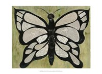 Butterfly Text Fine Art Print