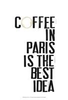 Drinks in Paris I Fine Art Print