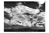 Pyramids, Mountains & Clouds Fine Art Print