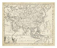 Map of Asia Fine Art Print