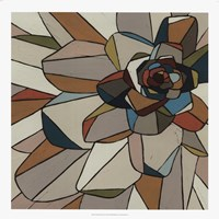 Stained Glass Floral I Framed Print