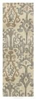 Linen Ikat I Framed Print