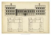 Elevation & Plan for Castle Abby Fine Art Print