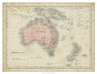 Map of Australia Fine Art Print