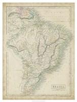 Map of Brazil Fine Art Print