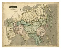 Thomson's Map of Asia Fine Art Print