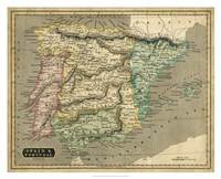 Thomson's Map of Spain & Portugal Fine Art Print