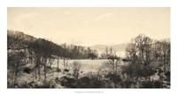 Foggy Mountain II Framed Print