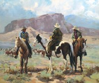 Three Cowboys Fine Art Print