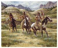 Warriors of the Badlands Fine Art Print
